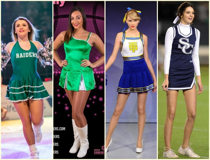 Glamour Icons Creation Cheerleader Collage