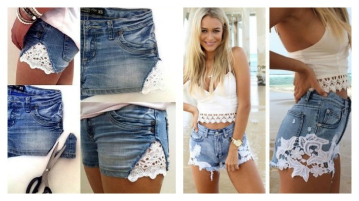 short jeans with lace1
