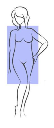 Rectangular body shape