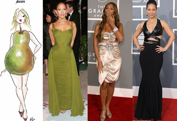Celebrities with pear body shapes