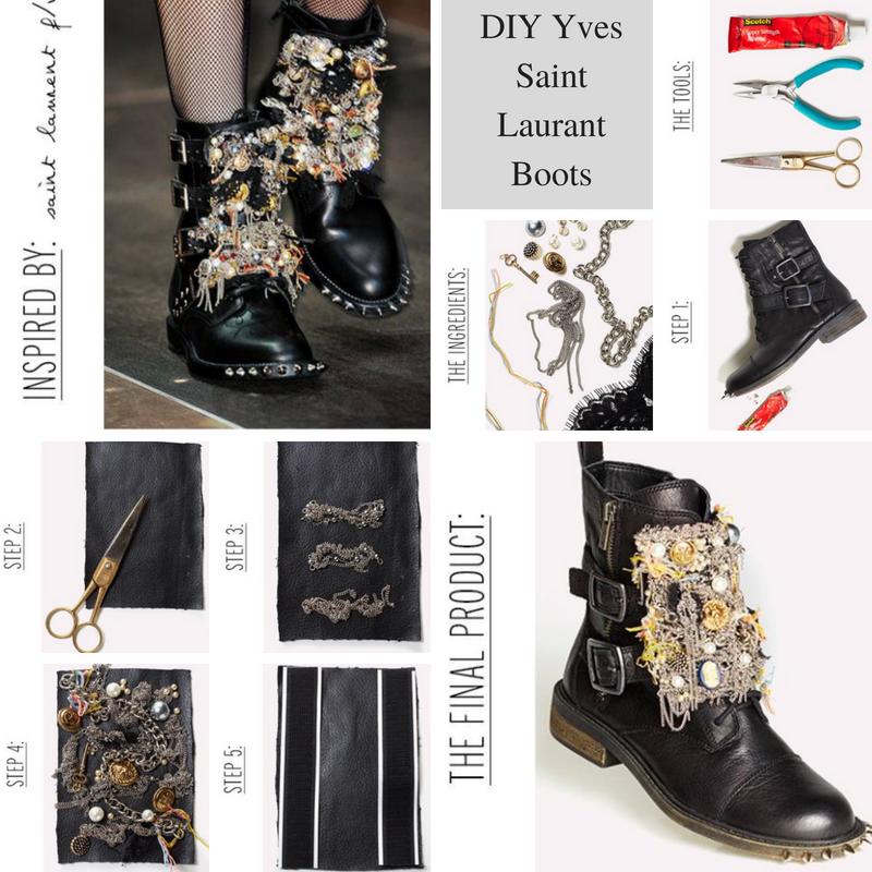 DIY Yves Saint Laurant Boots