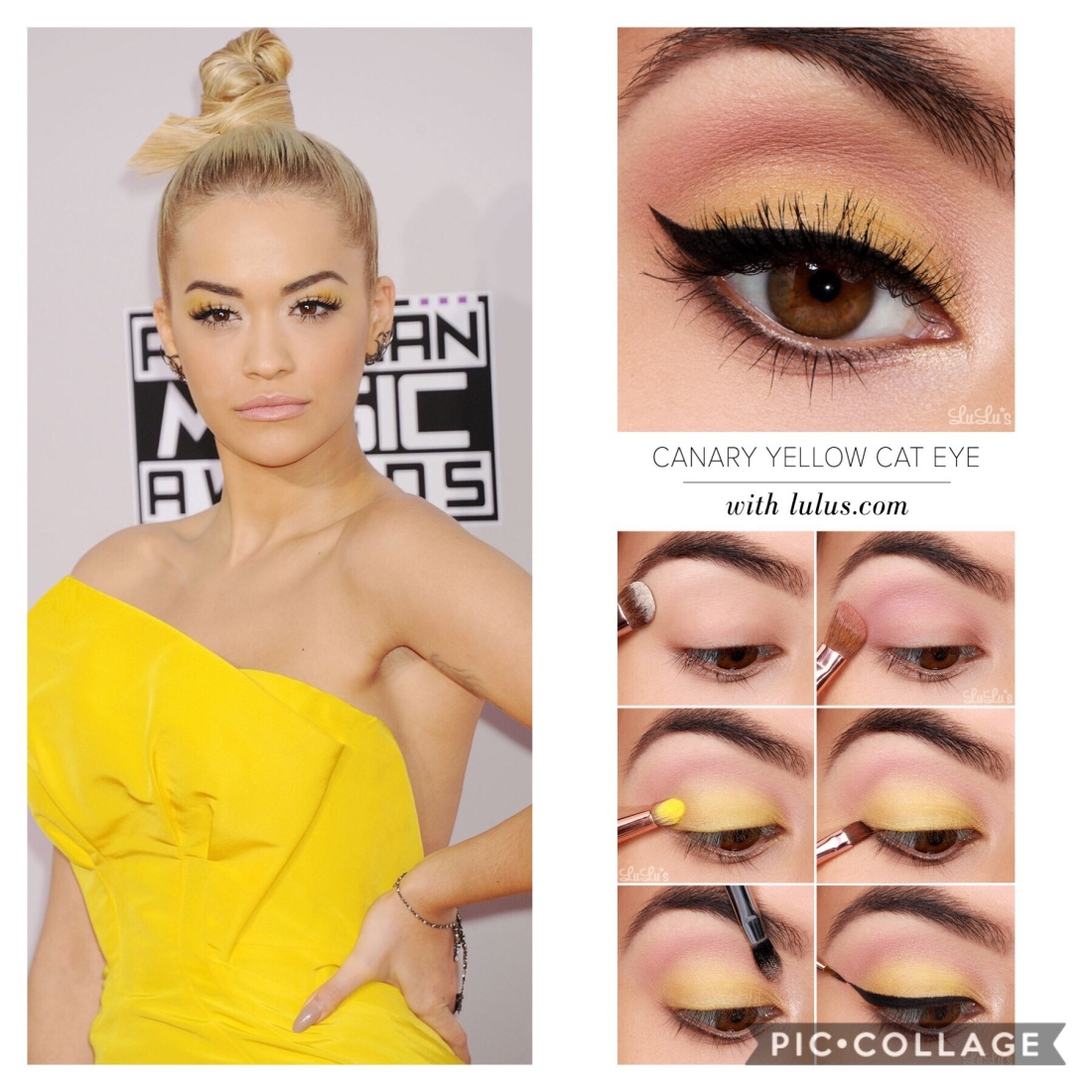 The Yellow Eye Makeup Perfect For The Summer Glamour Icons
