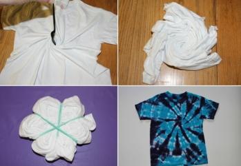 batik-techniken-t-shirt-spiral-kleidung-selber-färben